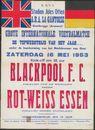 Grote Internationale Voetbalmatch, Blackpool F.C. - Rot-Weiss Essen, Stadion Jules Otten, A.R.A. La Gantoise, Gentbrugge, 16 mei 1953