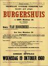 Vrijwillige openbare verkoop van bijzonder goed gelegen burgershuis te Gent, Muinklaan, nr.20, (aan 't Zuidpark), Gent, 19 oktober 1960