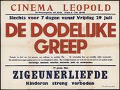 De dodelijke greep (film 1), Zigeunerliefde (film 2), Cinema Leopold, Gent, 29 juli 1949 -