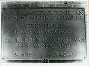 Gent: Offerlaan: Gedenkplaat
