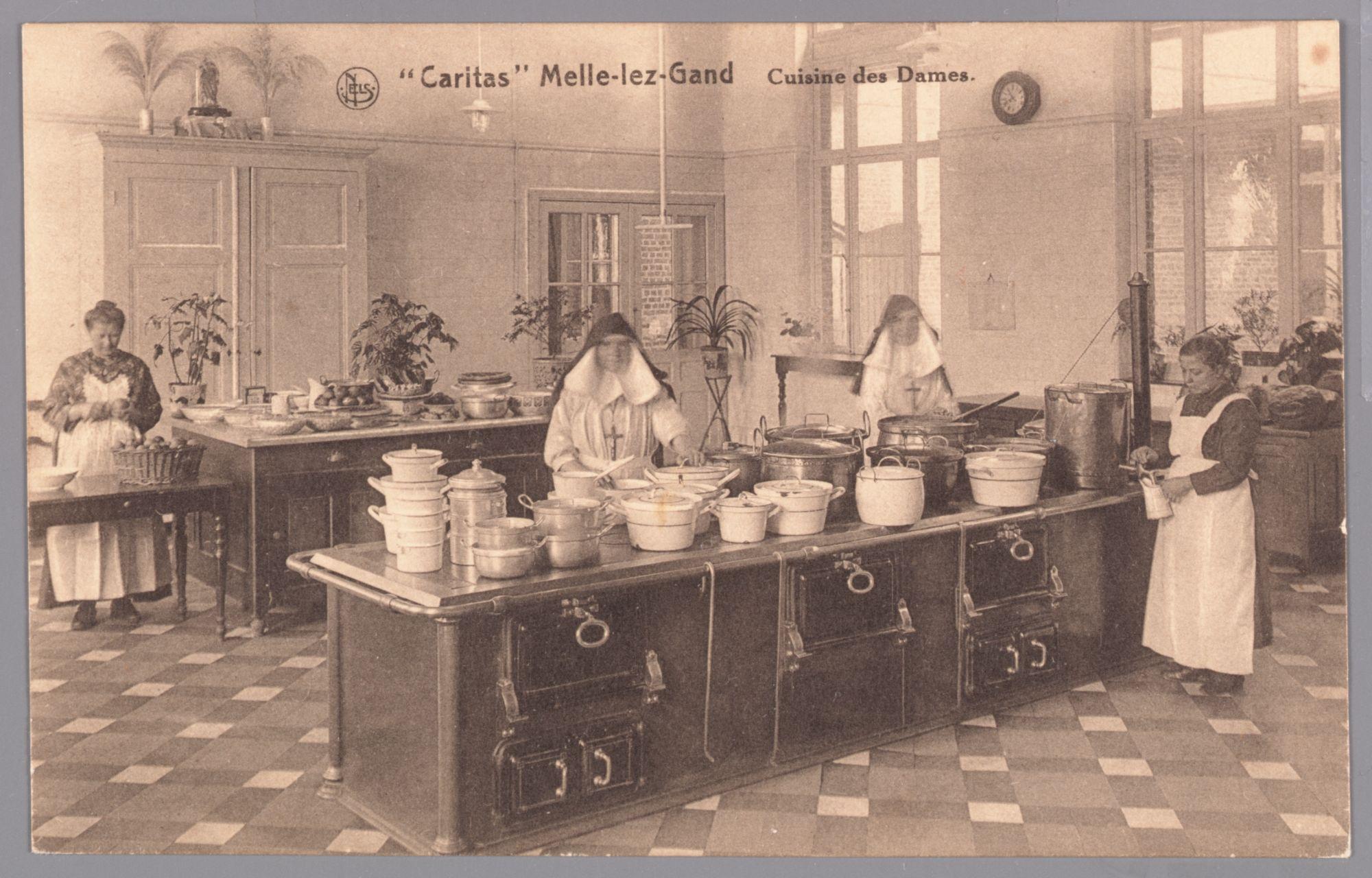 Melle: psychiatrisch ziekenhuis Caritas: keuken van de vrouwen(afdeling?)