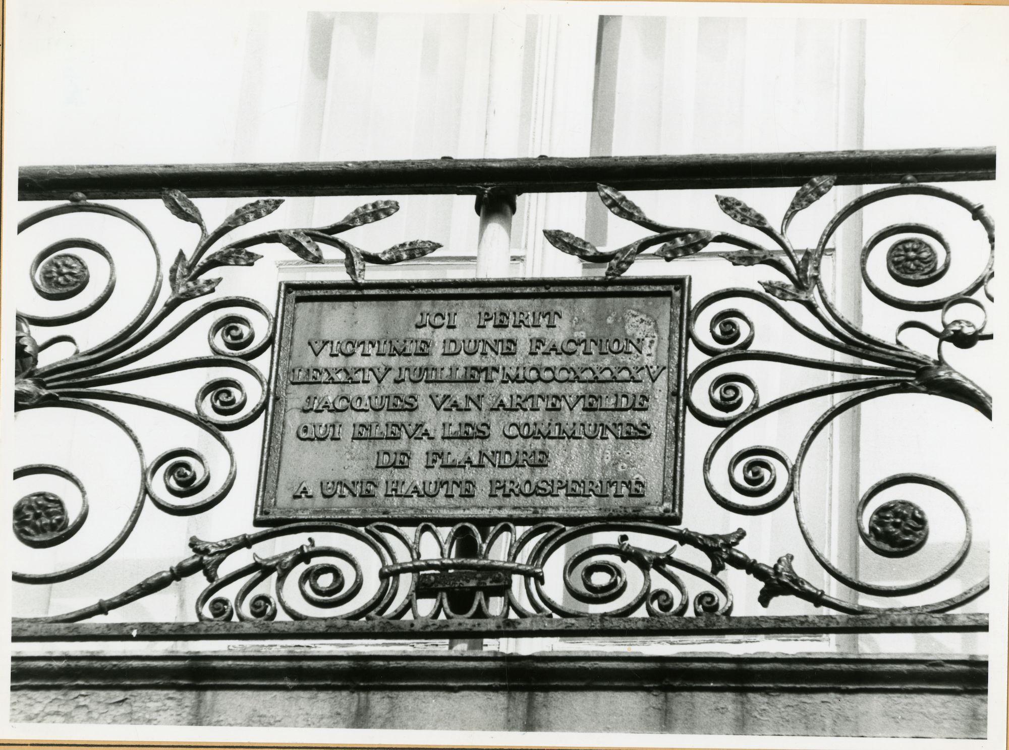 Gent: Kalandenberg 7: Gedenkplaat, 1979