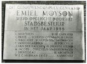 Gent: Emile Moysonlaan 28-152: gedenkplaat: Stad Gent, 1980