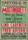 """La grande vedette Française Mistinguett """"Paris qui Chante"""", Capitole, Gent, 6 februari 1947"""