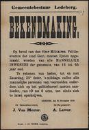 Gemeentebestuur Ledeberg, Bekendmaking.