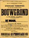 Openbare verkoop van een goed gelegen perceel bouwgrond te De Pinte, Leopoldlaan. (tussen de huizen nrs. 15 en 19), Gent, 12 februari 1959