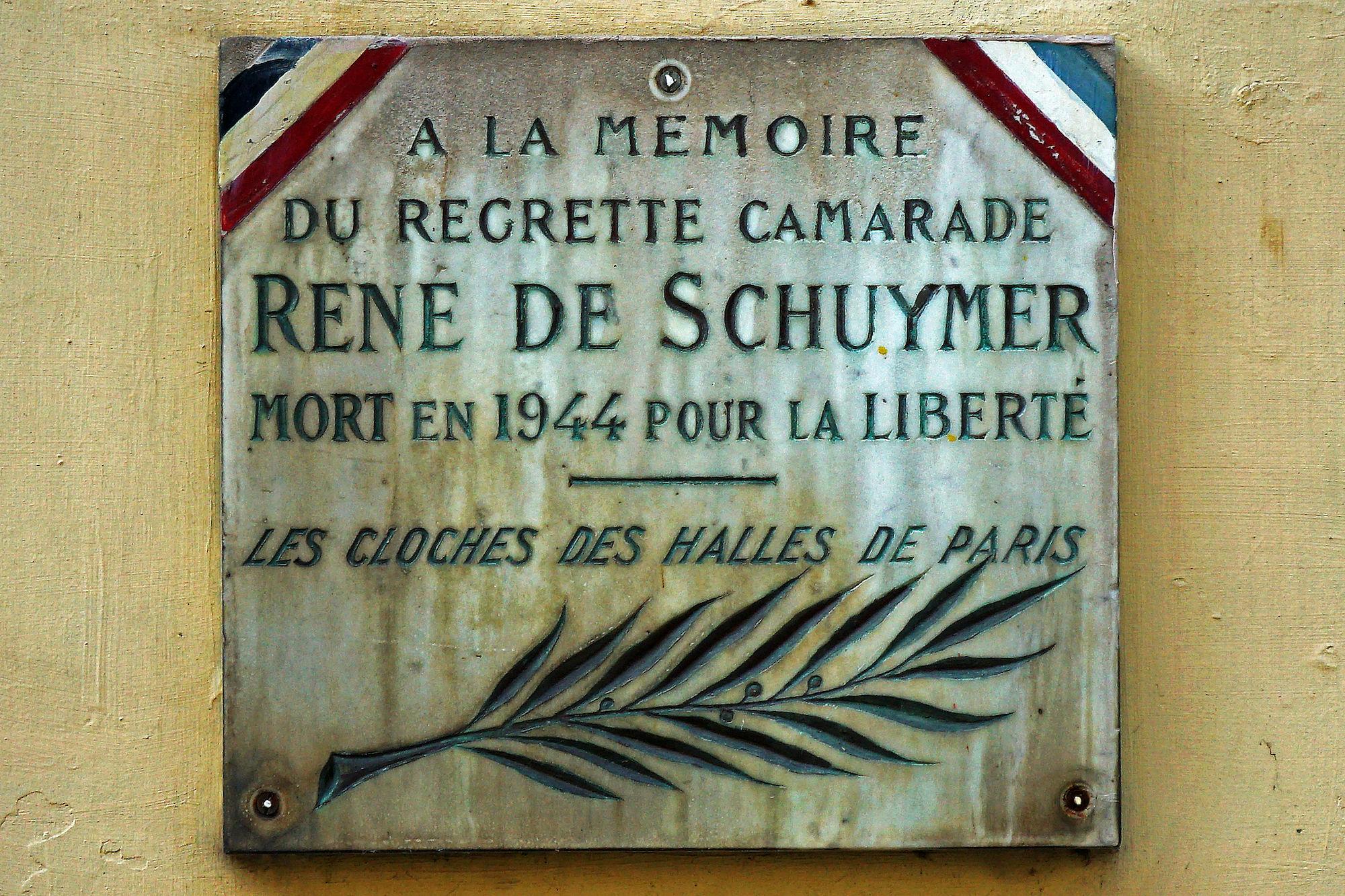 Gedenkplaat - René de Schuymer