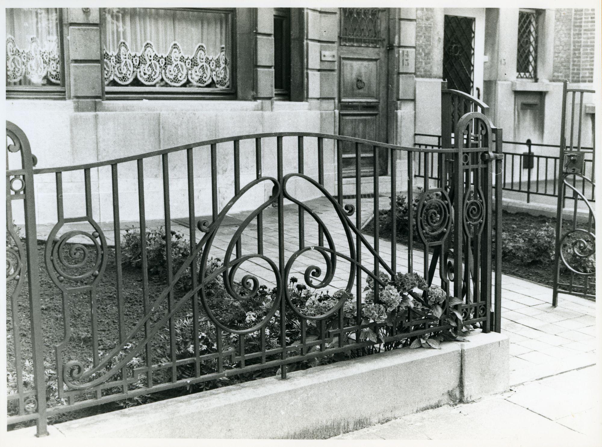 Gent: Onafhankelijkheidslaan 14-15: Hek, 1979