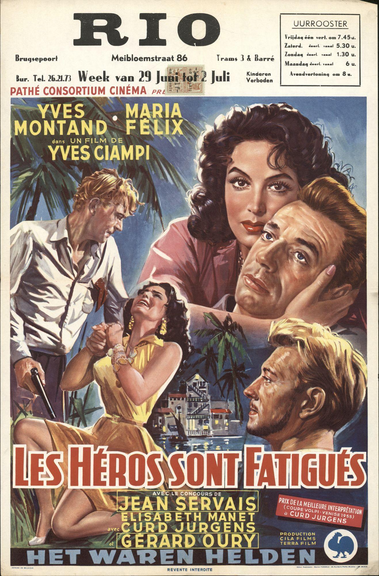 Les Héros sont Fatigués   Het waren helden, Rio, Gent, 29 juni - 2 juli 1956