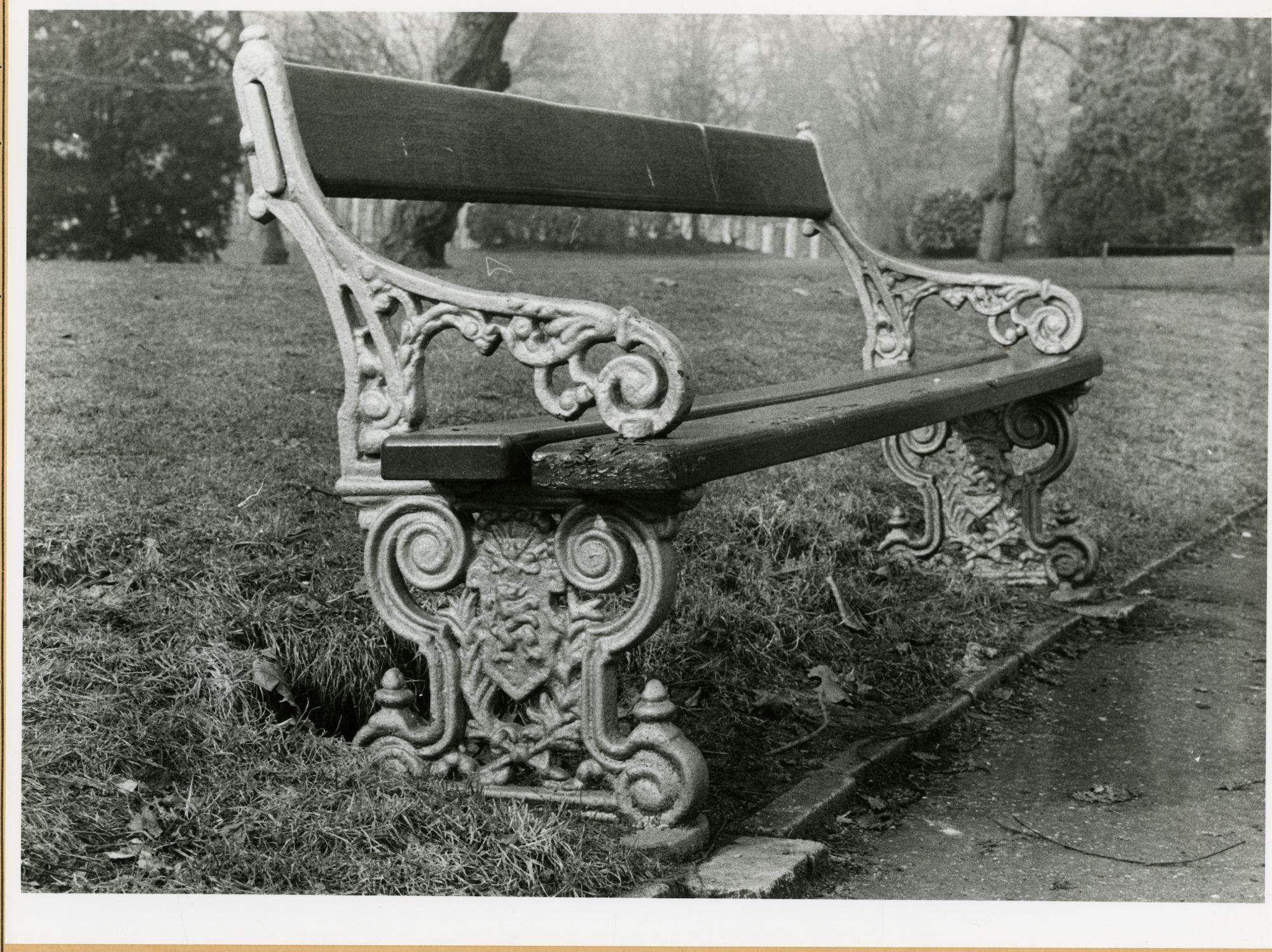 Gent: Citadelpark: bank, 1979