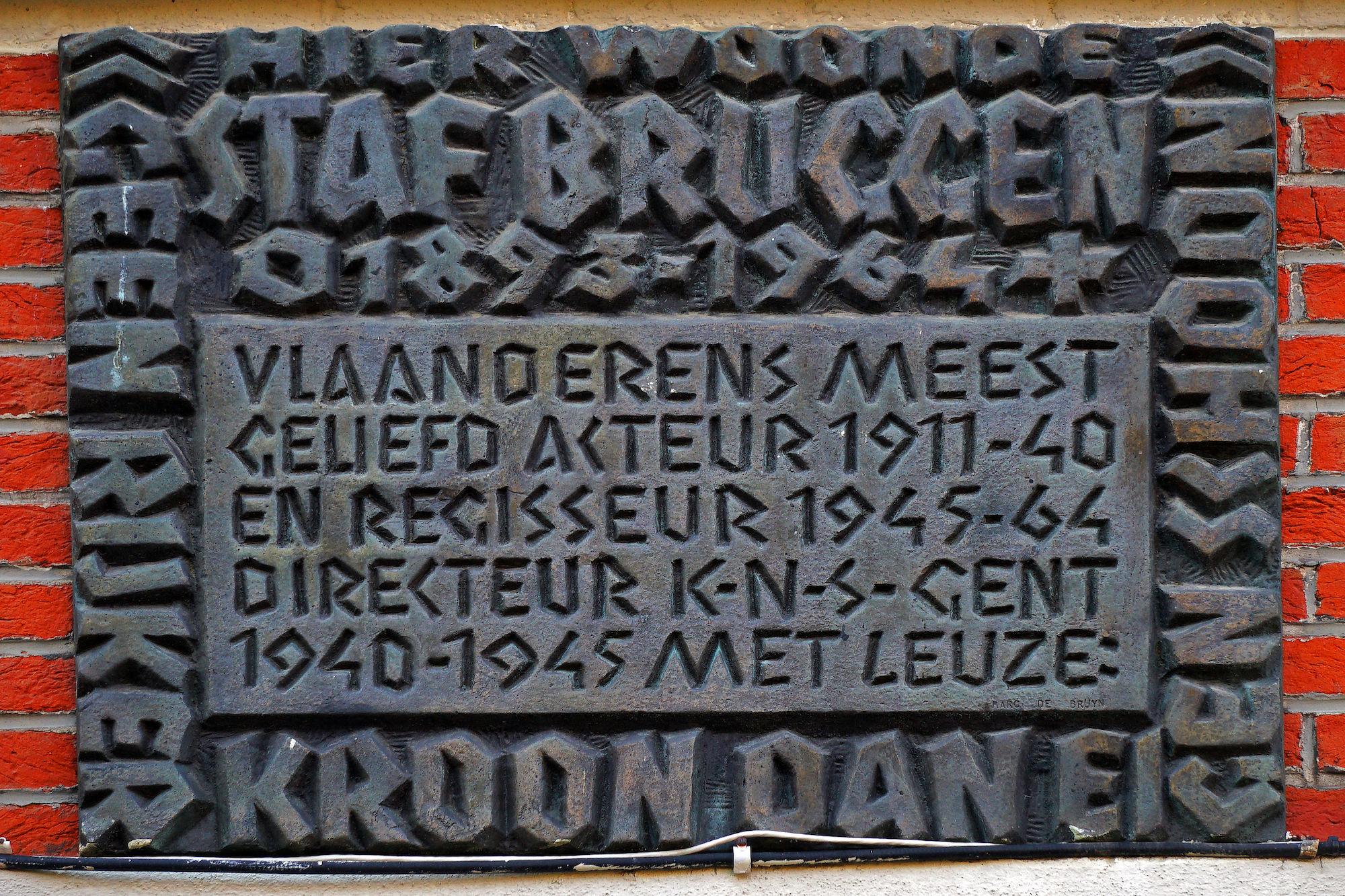 Gedenkplaat - Staf Bruggen