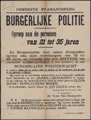 Gemeente St-Amandsberg, Burgerlijke politie, Oproep aan de personen van 21 tot 35 jaren.