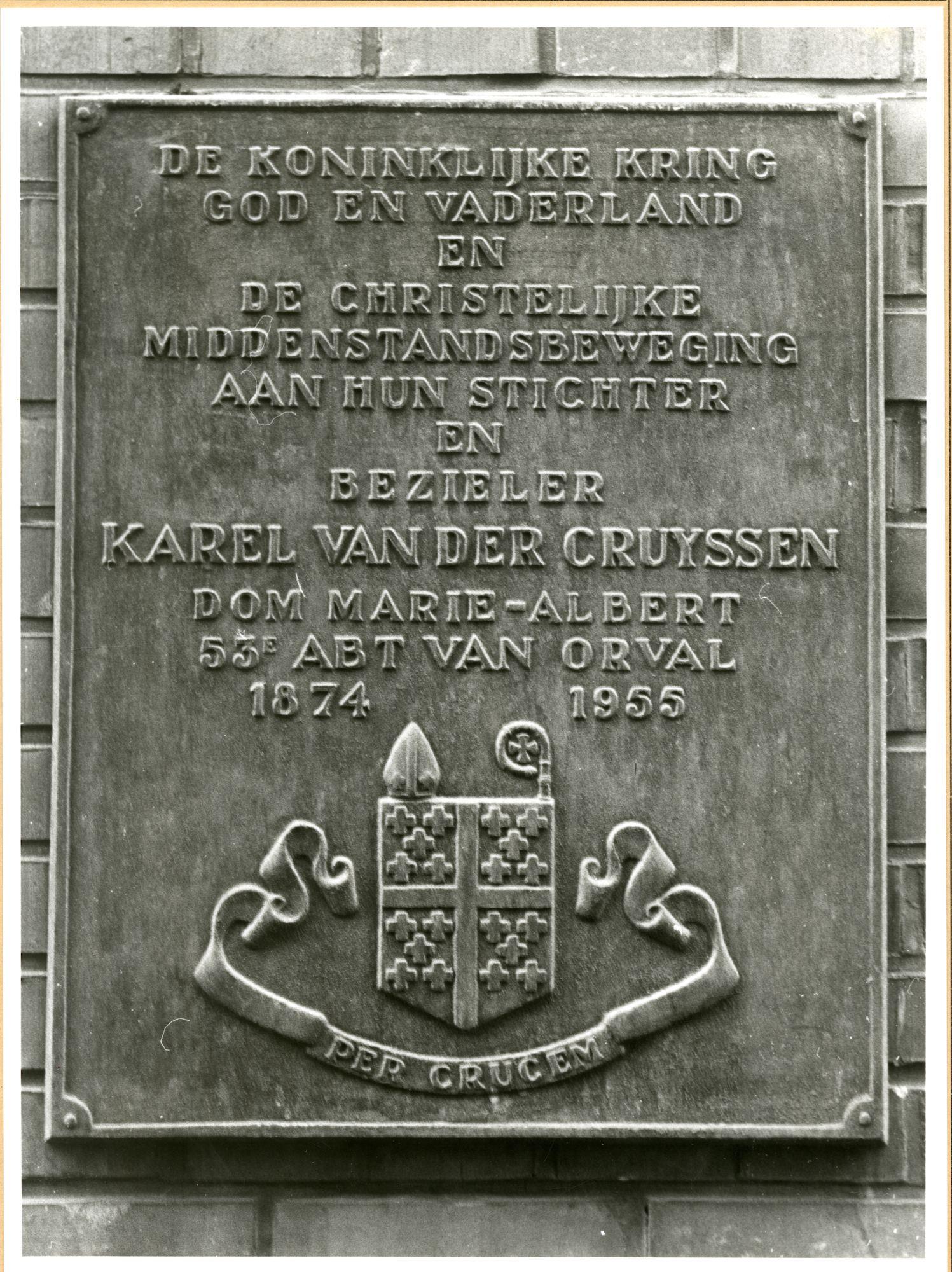 Gent: Lange Kruisstraat 4: Gedenkplaat