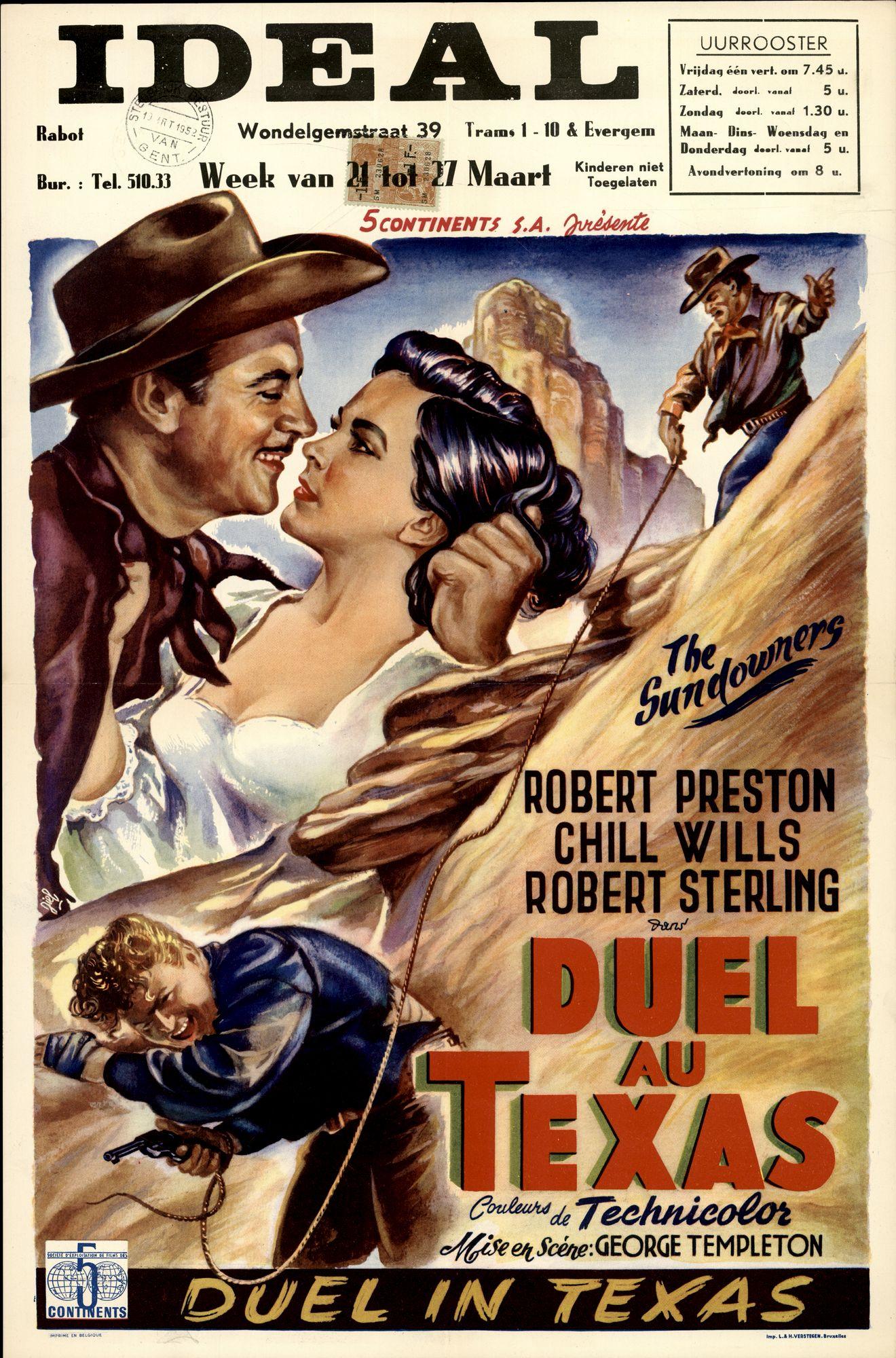 Duel au Texas | Duel in Texas | The Sundoxners, Ideal, Gent, 21 - 27 maart 1952