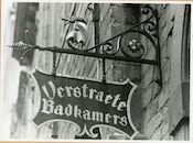 Gent: Gewad 30: uithangbord: Verstraete Badkamers, 1979