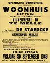 Openbare verkoop van welgelegen woonhuis met tuin dienstig als handelshuis, Vijverwegel, nr.10 te Melle, Gent, 9 september 1949