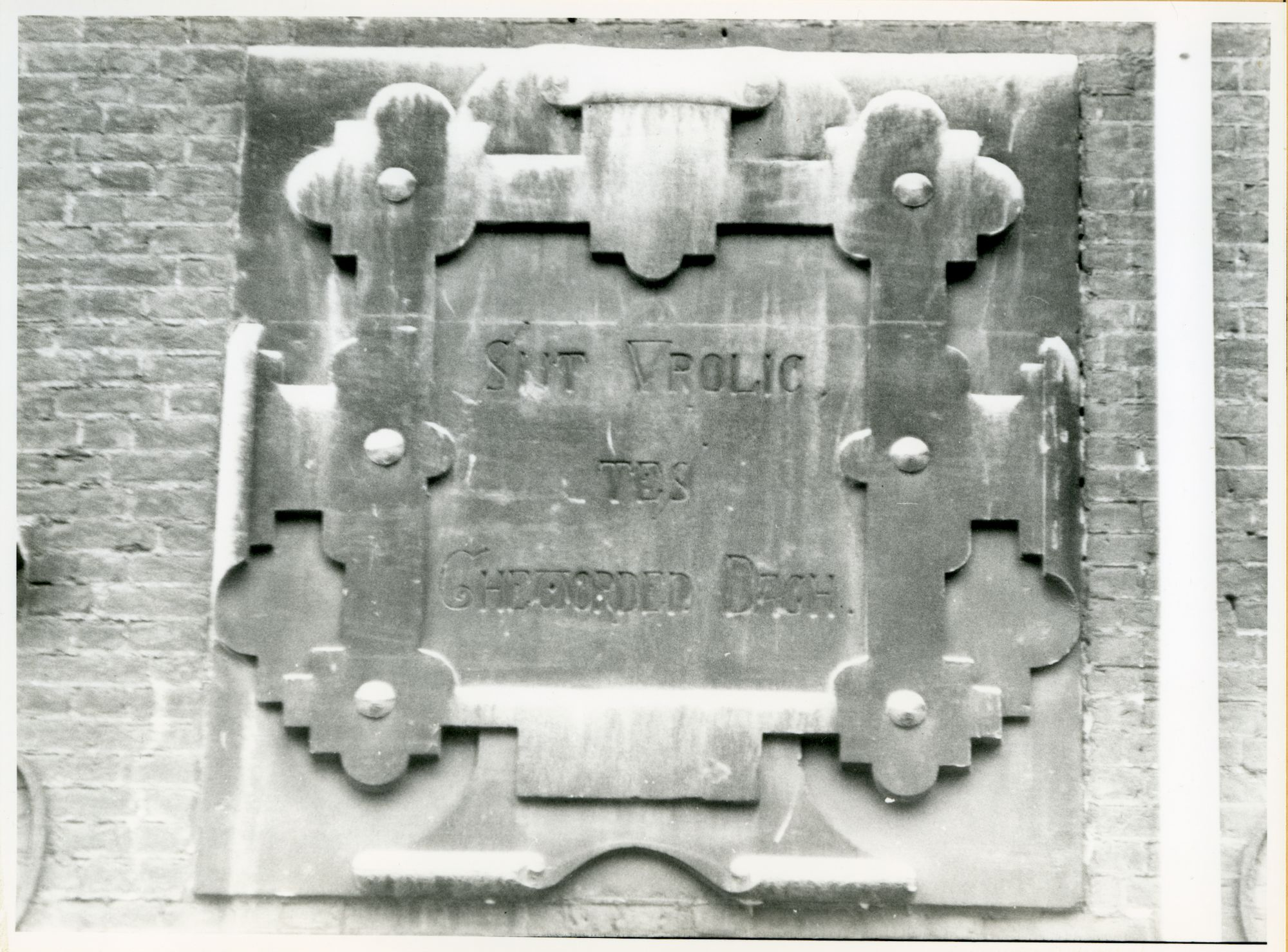 Gent: Snoekstraat 114: Gevelsteen, 1979