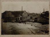 Gent: station Gent-Waas: de achterkant van het station en de sporen voor de afbraak, augustus 1911