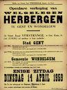 Openbare verkoop van welgelegen herbergen  te Gent en Wondelgem, Gent, 14 april 1959