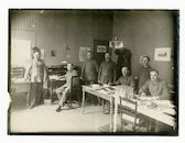 Gent: Kortrijksesteenweg 187 (toen 75): kantoren (Geschäftszimmer) van het 2de Landsturm bataljon (Landsturm-Infanterie-Ersatz-Bataillon) van het derde legerkorps (III/37): secretariaat (Schreifstube) van de 7de compagnie, 1915-1916