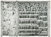Gent: Staakskenstraat: Gedenksteen, 1979