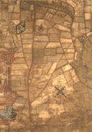 Sint-Denijs-Westrem: kaartdeel 10 (II) van de Kaart van Gent en het Vrije van Gent afgebakend door de Rietgracht, Jacques Horenbault, 1619