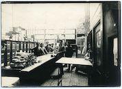 Gent: Woodrow Wilsonplein: Zuidstation: Materialiendepot (materiaalmagazijn) van het Duitse leger, 1915-1916