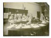 Gent: Koophandelsplein: Justitiepaleis: kantoor van de Etappen-Arzt (etappe-arts), 1915-1916