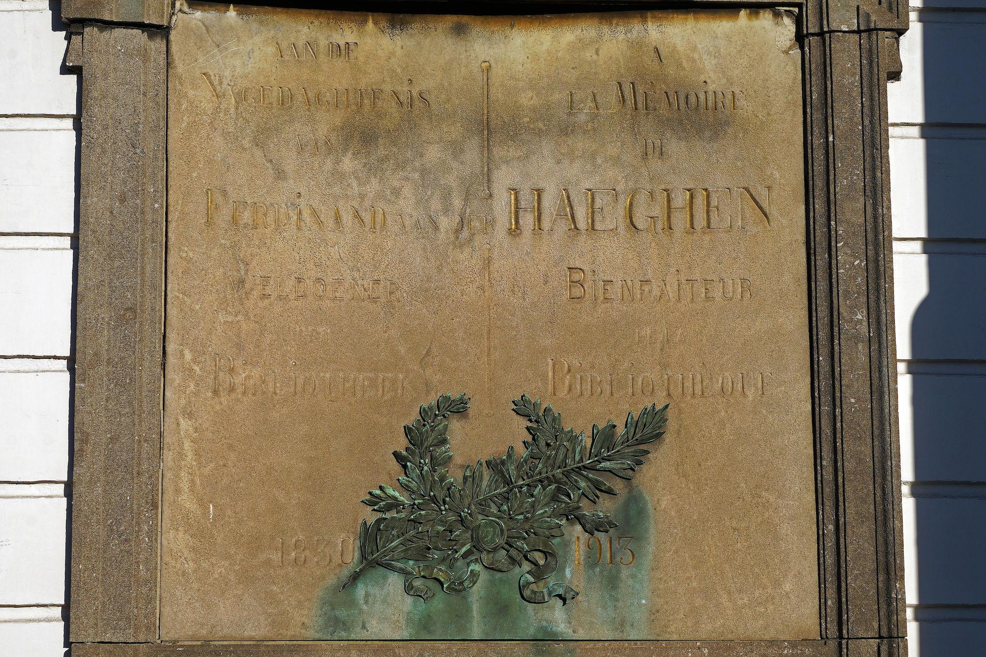 Gedenkplaat - Ferdinand Van der Haeghen