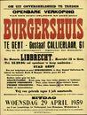 Openbare verkoop van een goed gelegen en zeer mooi burgershuis te Gent, Gustaaf Callierlaan, nr.61, Gent, 29 april 1959