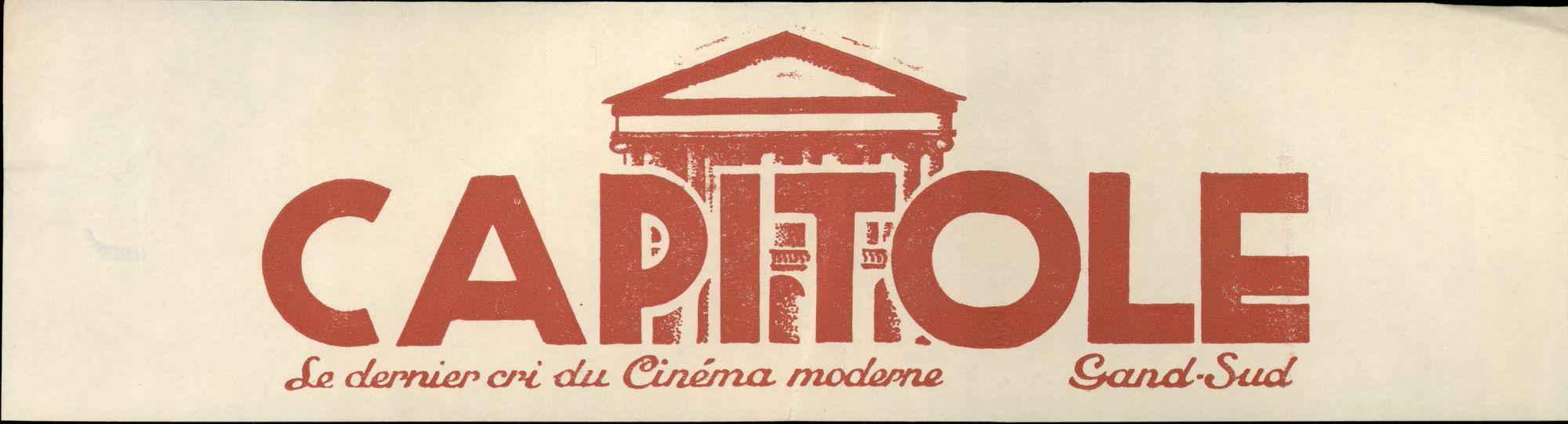 Reclame voor cinema Capitole, Gent