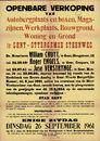 Openbare verkoop van Autobergplaats en boxen, Magazijnen, Werkplaats, Bouwgrond, Woning en Grond te Gent, Ottergemse Steenweg (Ottergemsesteenweg), Gent, 26 september 1961