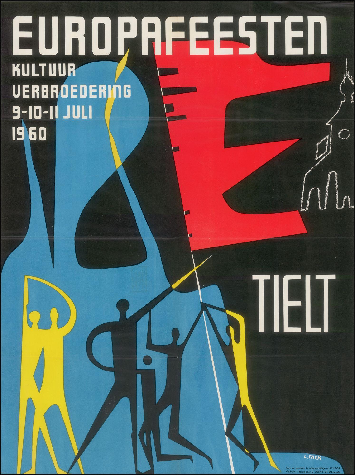 Europafeesten: Kultuur verbroedering, Tielt,  9-10-11 juli 1960