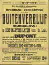 Openbare verkoop van een buitenverblijf (Bungalow) te Sint-Martens-Latem (aan de Leie), Gent, 3 september 1940