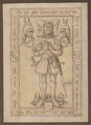 Gent: Jacobijnenstraat: Dominicanenkerk (nu verdwenen): grafplaat van Gillis van der Biest (+1392), heer van Beveren, voor 1578