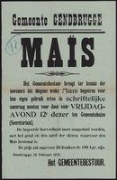 Gemeente Gendbrugge, Maïs.