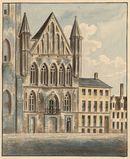 Gent: Lakenhalle en Sint-Jansstraat (nu Sint-Baafsplein)