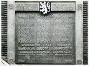 Gent: Sint Pietersnieuwstraat 43: Oorlogsgedenkplaat