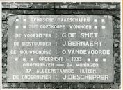 Gent: Narcisstraat 1: Gedenksteen, 1979