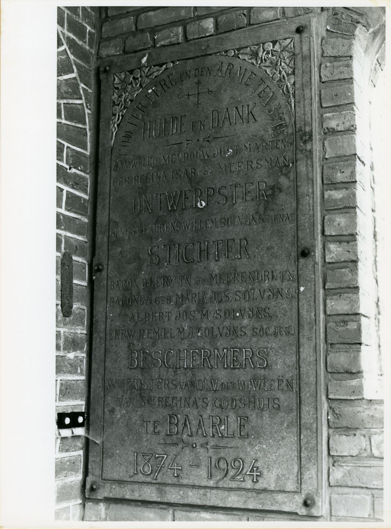 Drongen: Kloosterstraat 6: Gedenksteen, 1979