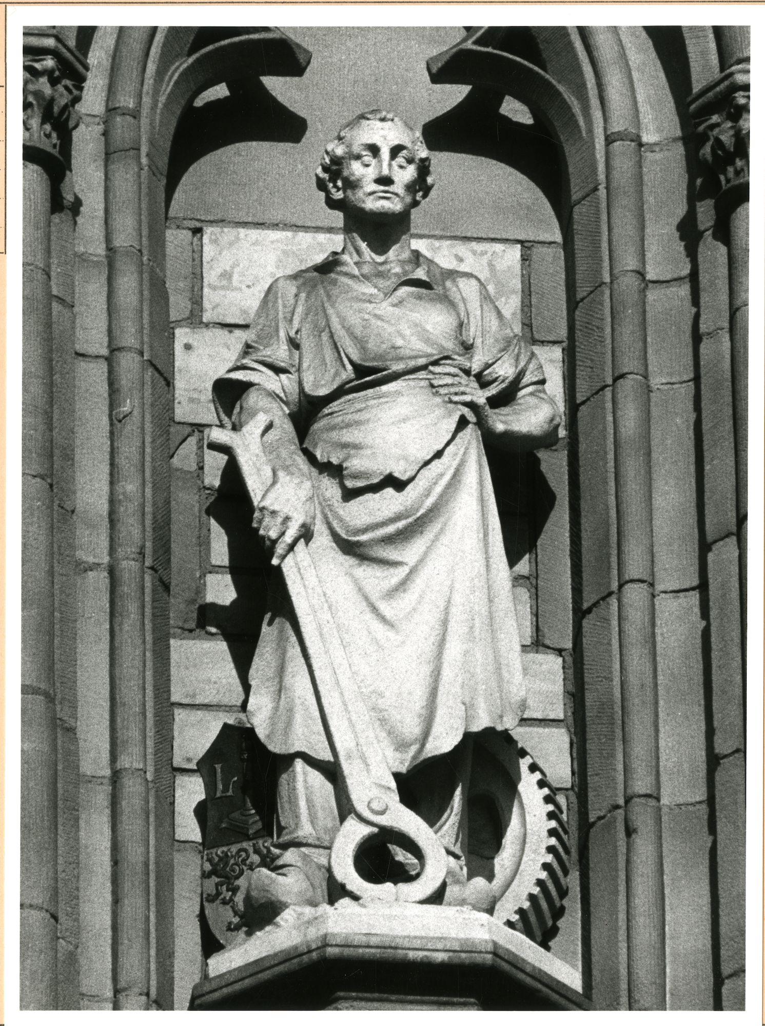 Gent: Korenmarkt: Gevelbeeld, 1981