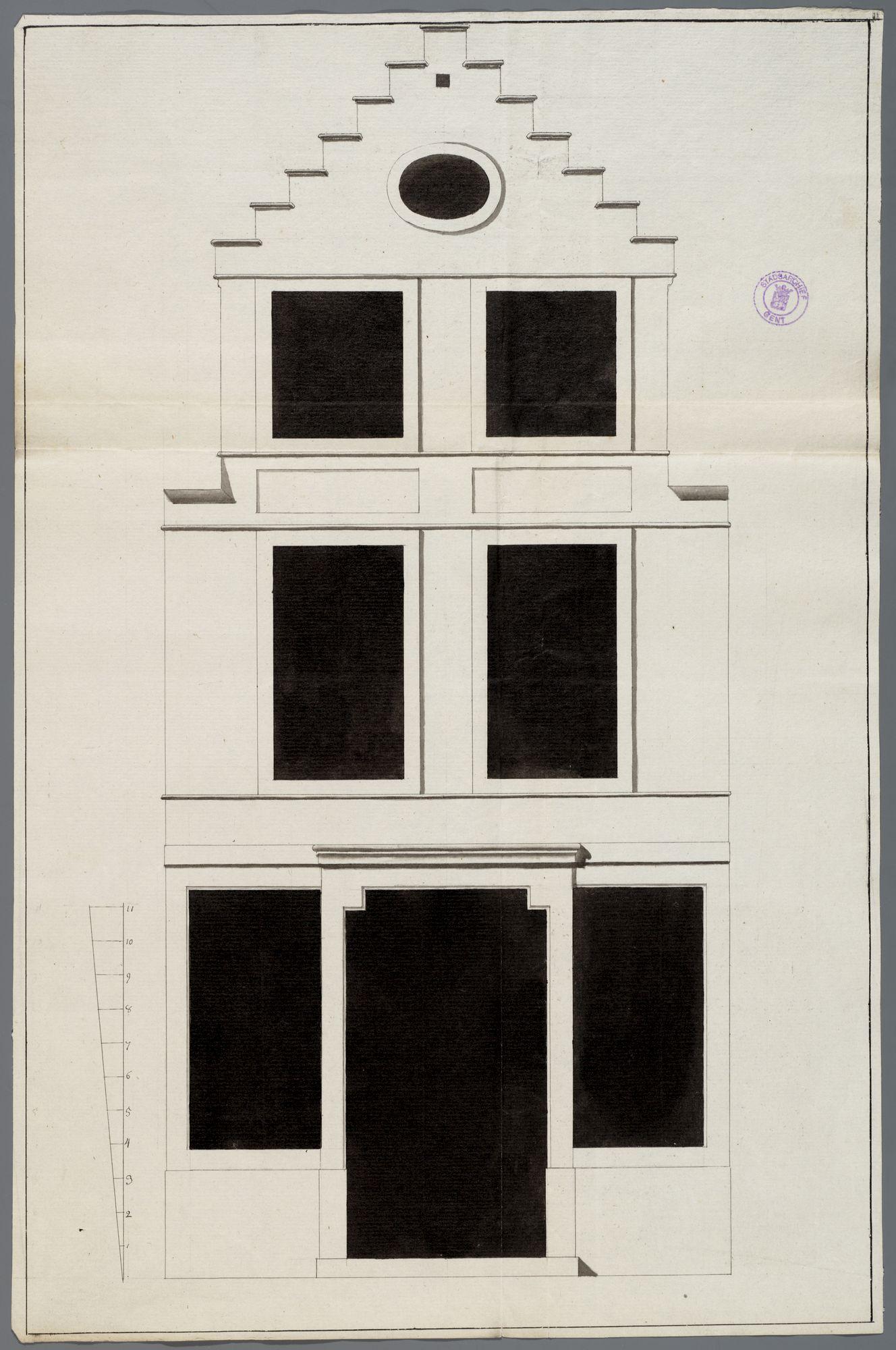 Gent: Veldstraat, 1783: opstand gevel