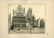 Gent: Graslei, Pakhuis,Schippershuis, belfort en Sint-Niklaskerk