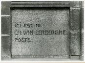 Gent: Franklin Rooseveltlaan 83: gedenkplaat: Charles Van Lerberghe