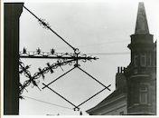 Gent: Hoogpoort 48: Gevelversiering voor uithangbord