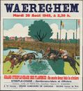 Waereghem, Grand Steeple-Chase des Flandres -.Steeple-chase: Gentlemen-riders et officiers, Waregem, Mardi 30 Août 1949, à 2,30 h.