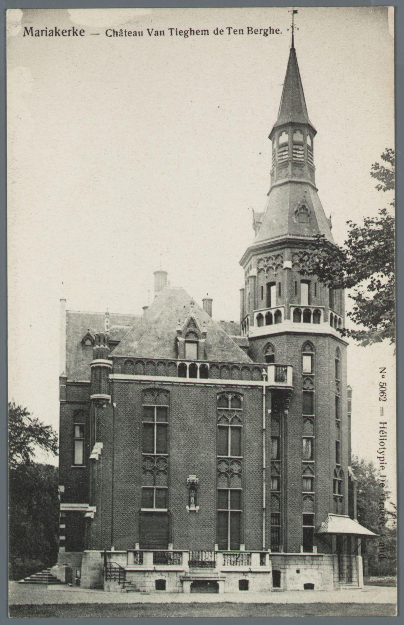 Mariakerke (bij Gent): kasteel Van Tieghem de Ten Berghe