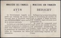 Banque Nationale de Belgique, Avis au public | Nationale Bank van België, Bericht aan het publiek