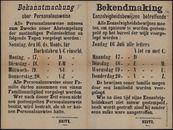 Bekanntmachung über Personalausweise| Bekendmaking Eenzelvigheidsbewijzen betreffende.