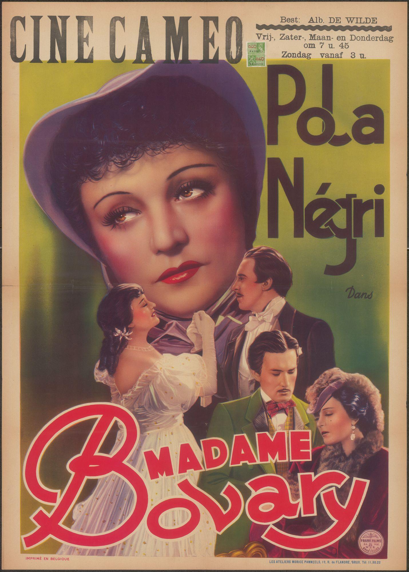 Madame Bovary, Cine Cameo, Gent, 1940